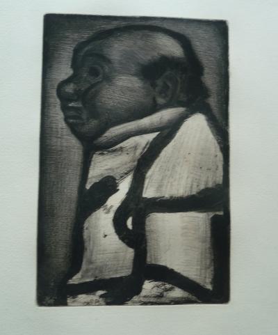 Georges Rouault Homme De Profil Gravure Originale Art