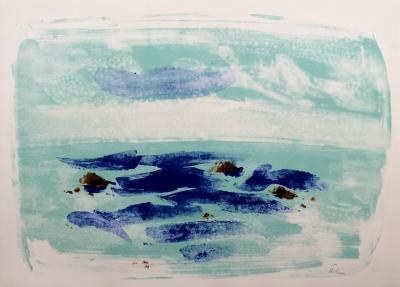Jean Hélion (after) - Force of the sea IV, 1965, original signed lithograph 2