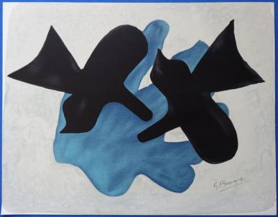 Georges BRAQUE - The couple of birds, signed lithograph
