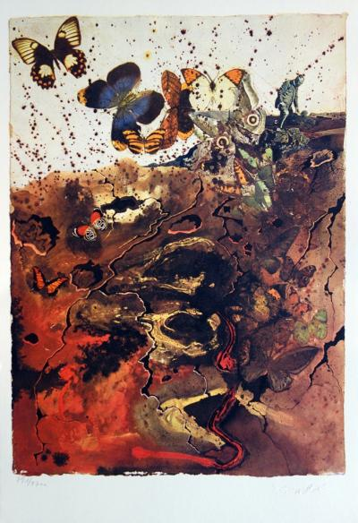 Salvador DALI (1904-1989) - Auvergne, original lithograph, signed, SNCF, large model 2