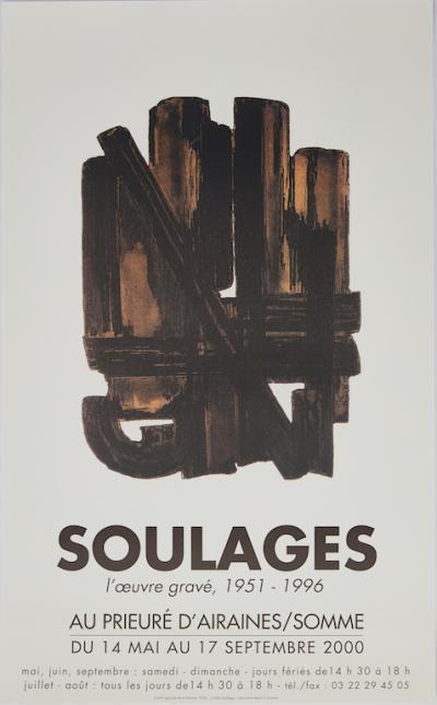 Pierre soulages l 39 oeuvre grav eau forte n 9 art for Affiche pierre soulages