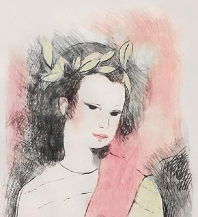 Marie Laurencin - Crowned Muse, 282/II, 1954