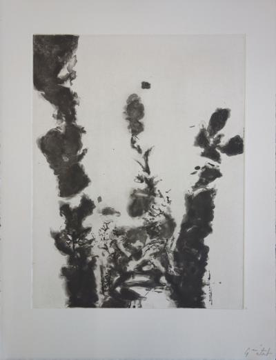 Zao Wou-Ki - The music to hear, Original aquatint etching
