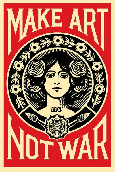Obey Giant aka Shepard Fairey (USA, 1970) - screenprint 2016 - signed and dated