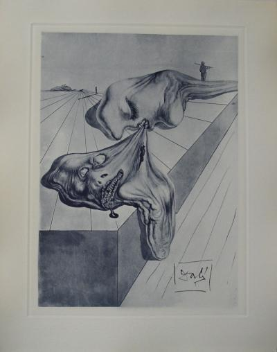 Salvador Dali - The men who devour one another, original signed etching