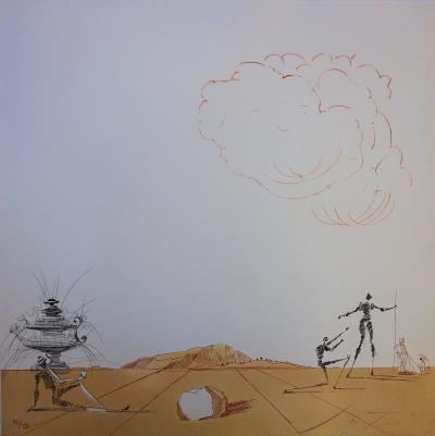 Salvador Dalí: Fantasies of the Ampurdam Plain - Original signed etching