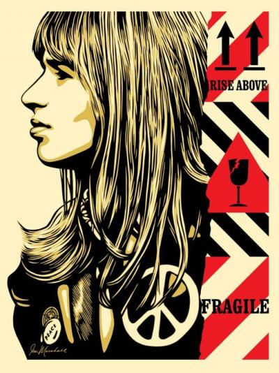 Shepard Fairey - Fragile peace, Serigraph signed and numbered