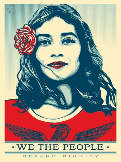 Shepard Fairey - We the people defend dignity, Lithographie 2