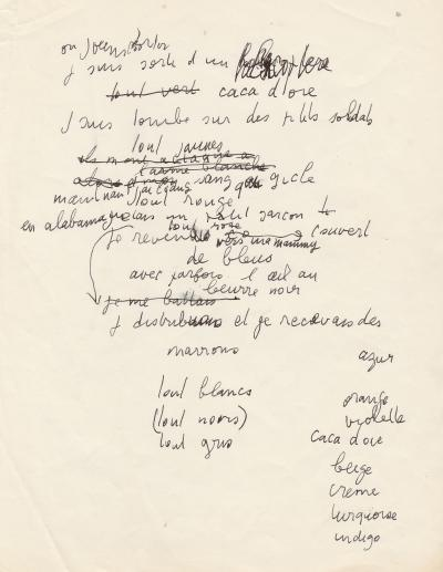 SERGE GAINSBOURG - Unpublished Autograph Song