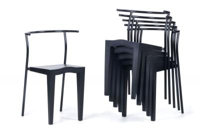 sechs st hle dr glob philipp starck mobilier du xx me si cle. Black Bedroom Furniture Sets. Home Design Ideas