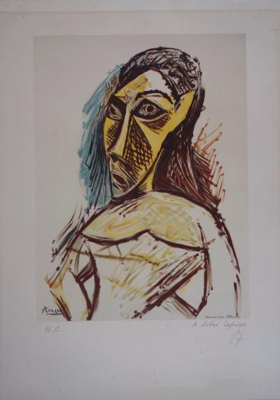 Pablo PICASSO (after) - Portrait of a woman, signed lithograph