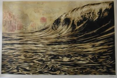 Shepard Fairey aka Obey Giant - Dark wave BP, signed and dated in pencil by the artist