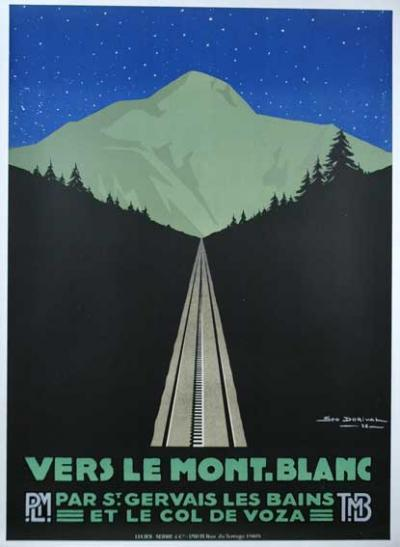 Vers Le Mont Blanc by Geo Dorival 1928 set of 3 posters