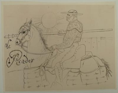 Pierre-Yves TREMOIS - The Picador - original drawing, 1959