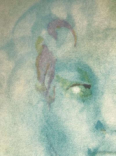 ff031260111 Lithographie originale signée de Leonor Fini - Visage bleu - Post ...
