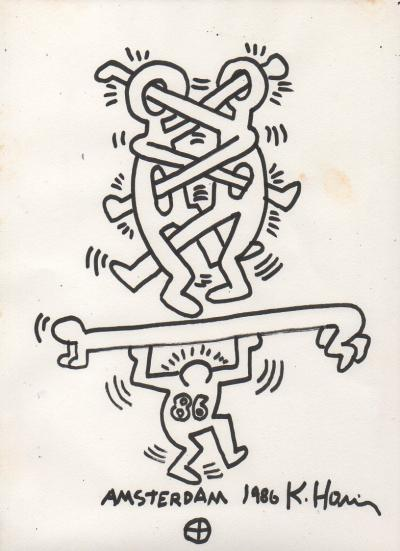 Keith HARING (1958-1990) - Drawing in felt tip pen 1986