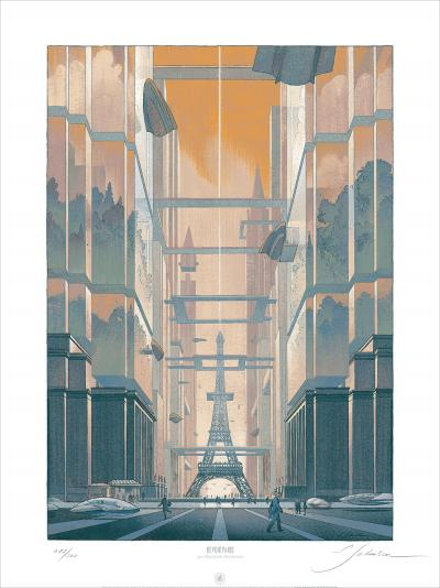 François Schuiten - To see Paris, 2014, screenprint