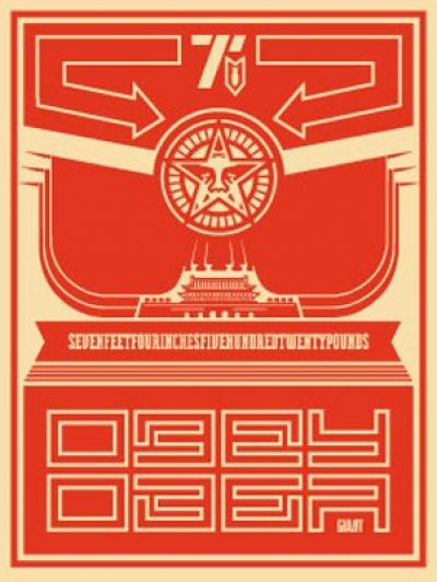 Chinese Banner - Obey,2001