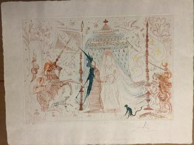 Salvador Dali: Gala my only desire - Original signed etching, 1965
