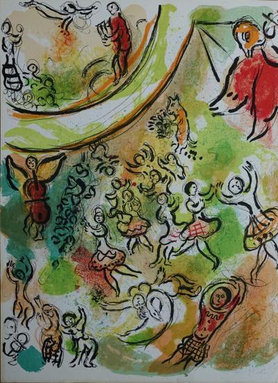 Marc Chagall L Opera Garnier Lithographie Originale 1965 Art Moderne Plazzart
