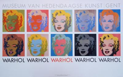 Andy WARHOL - The 10 Marilyns - original poster 1982