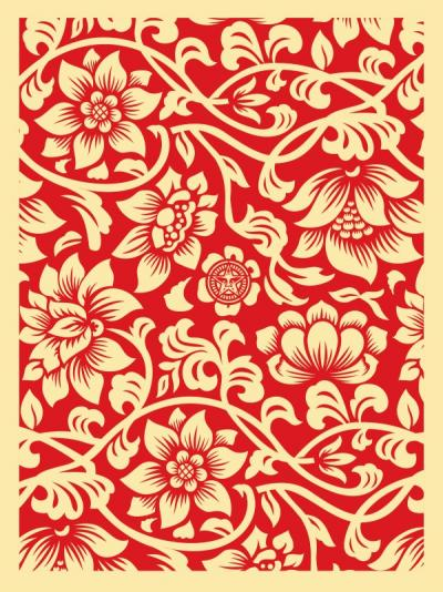 Floral Takeover (Cream/Red) - Obey