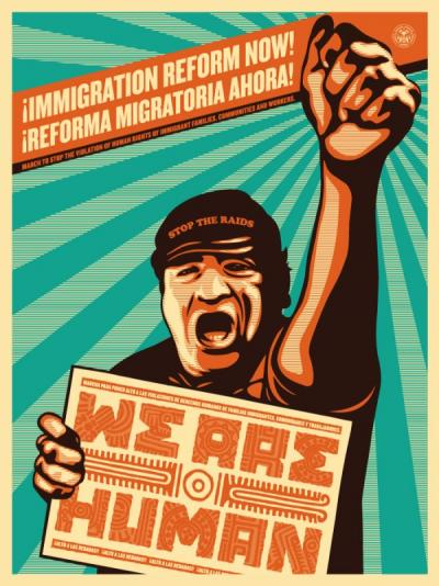 Immigration Reform Now!(We are Human) - Obey