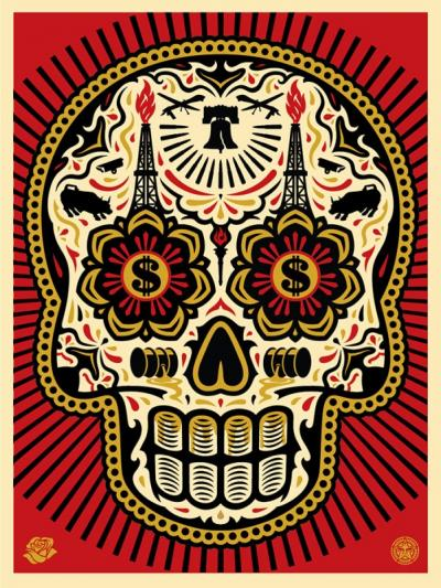 Power And Glory, Day of The Dead Skull (Red) - Obey