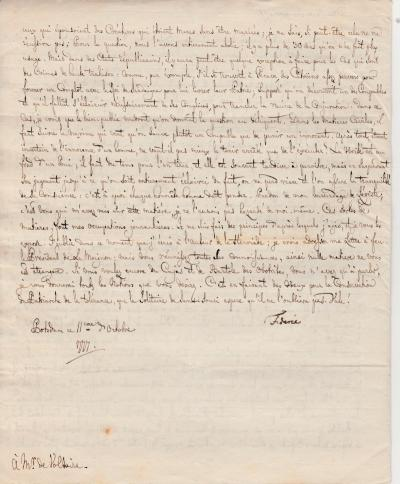 FREDERIC II - Handwritten letter signed at VOLTAIRE Unpublished