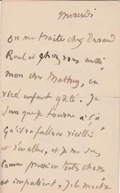 Edgar DEGAS - Autographed  signed letter evoking Durand-Ruel, his personality