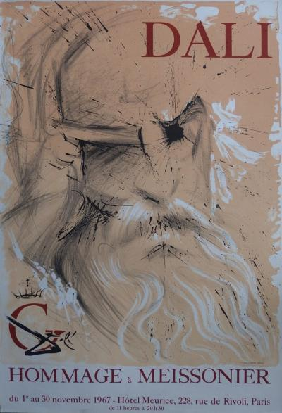 Salvador Dali - Tribute to Meissonier, signed lithograph, 1967