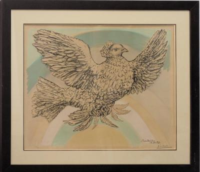 Pablo Picasso: Rainbow Dove - Original signed lithograph