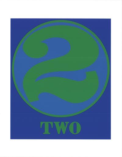 Robert INDIANA - Number Two Green and Blue, 1997 - Silkscreen