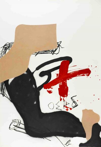 Antoni Tapies - Chicago International, 1987 lithographie signée