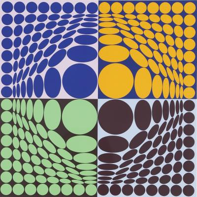 Victor Vasarely - Composition cercle - 1994