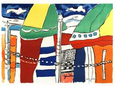 Fernand LEGER - Deauville, (1950) - Handsigned and numbered lithograph