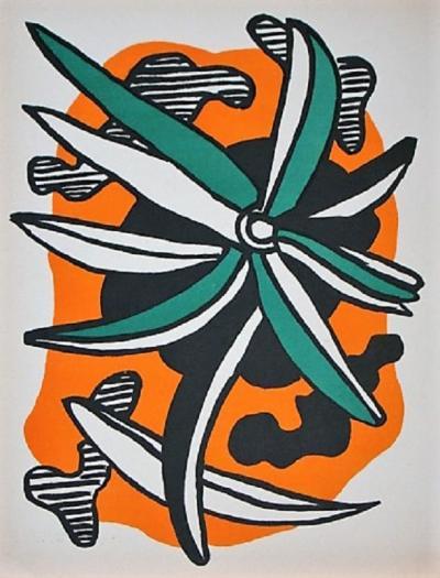 Fernand Leger La Fleur 1952 Post War Modern Art Privatelot Com