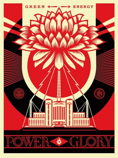 Shepard FAIREY (obey) - Green power - Signed and dated