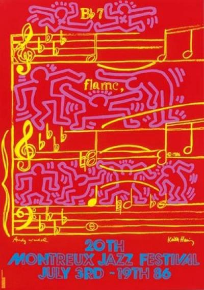 Keith Haring-Montreux Jazz Festival 1986