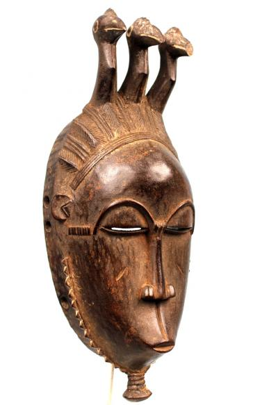 Baule Facial Mask with Birds Heads - Ivory Coast