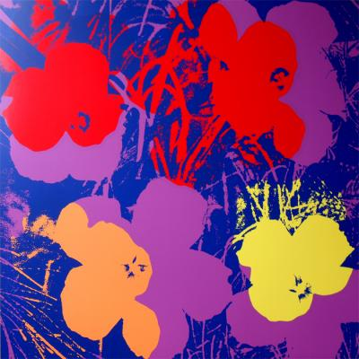 Andy Warhol (after) Sunday B. Morning - Flowers 11.66 Screen print, COA included - Pop Art
