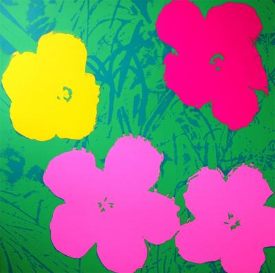 Andy Warhol (after) Sunday B. Morning - Flowers 11.68 Screen print, COA included - Pop Art