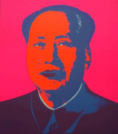 Andy Warhol (after) Sunday B. Morning - Mao Pink Screen print, COA included - Pop Art
