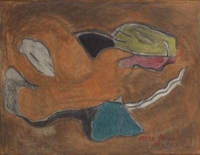 Serge Poliakoff- Composition - 1944 - painting