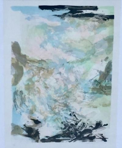 Zao Wou Ki, lithograph hand signed and justified