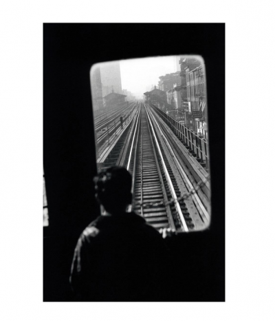 Elliott Erwitt Third Avenue El., New York City, 1954  hand signed pict