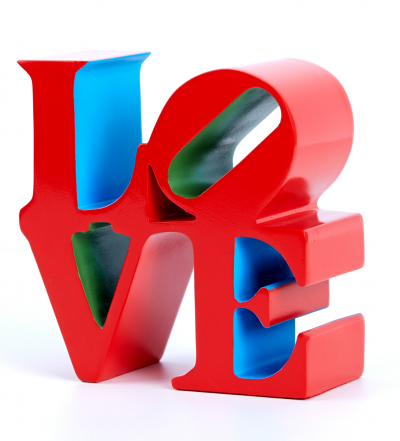 Robert INDIANA (after) - Love Red, Sculpture Zinc alloy, 2018