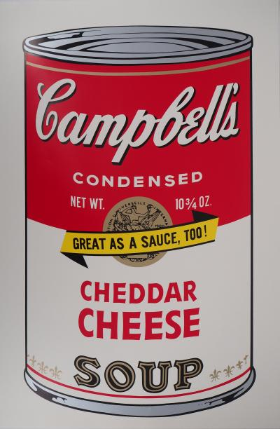 Andy WARHOL (d'après) : Campbell's soup - Cheddar Cheese Soup, Sérigraphie
