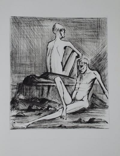 Bernard Buffet - L'enfer de Dante / Deux Damnés - Dry Point