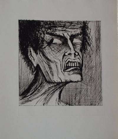 Bernard Buffet - L'enfer de Dante / Angélo - Dry Point